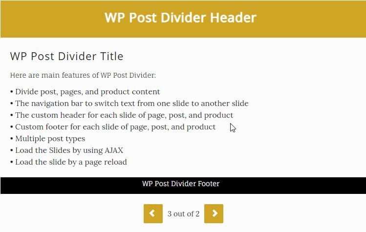 WP Post Divider
